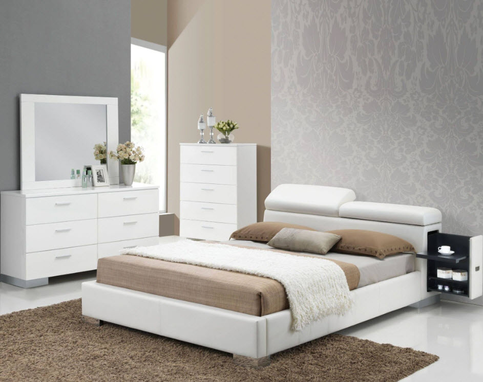 huge discount f9807 1c181 Manjot Contemporary Bed With Built-In Nightstand