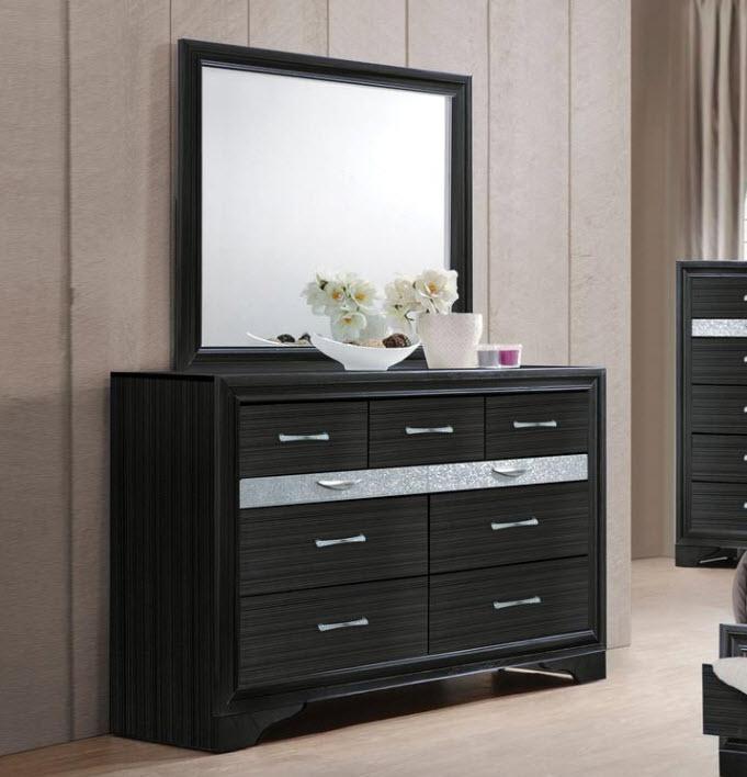 Dresser W/Mirror Black