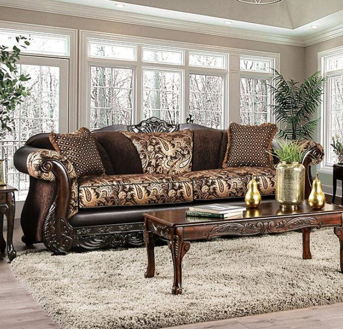 Brown & Gold Sofa