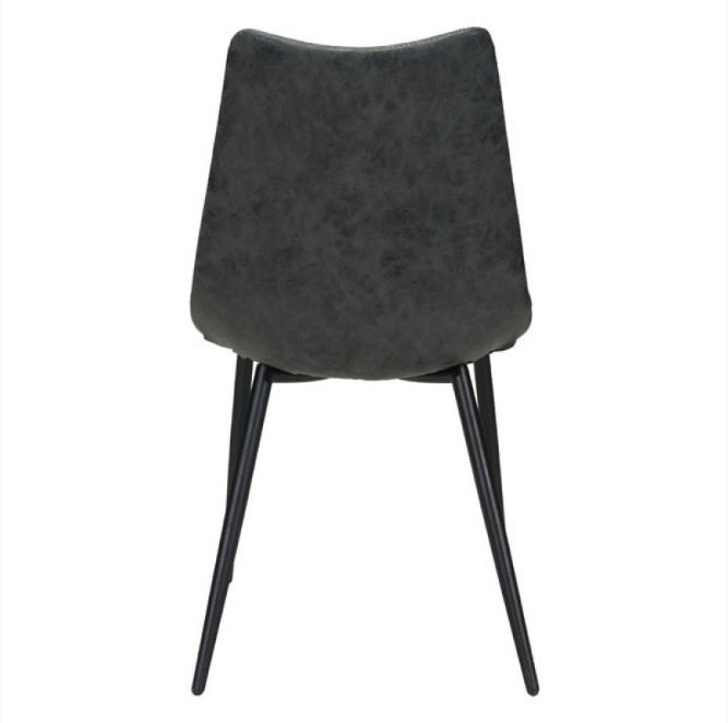 Xavier Leatherette Dining Chair Black: Norwich Leatherette Dining Chair