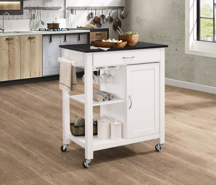 Ottawa Wood Top Kitchen Cart