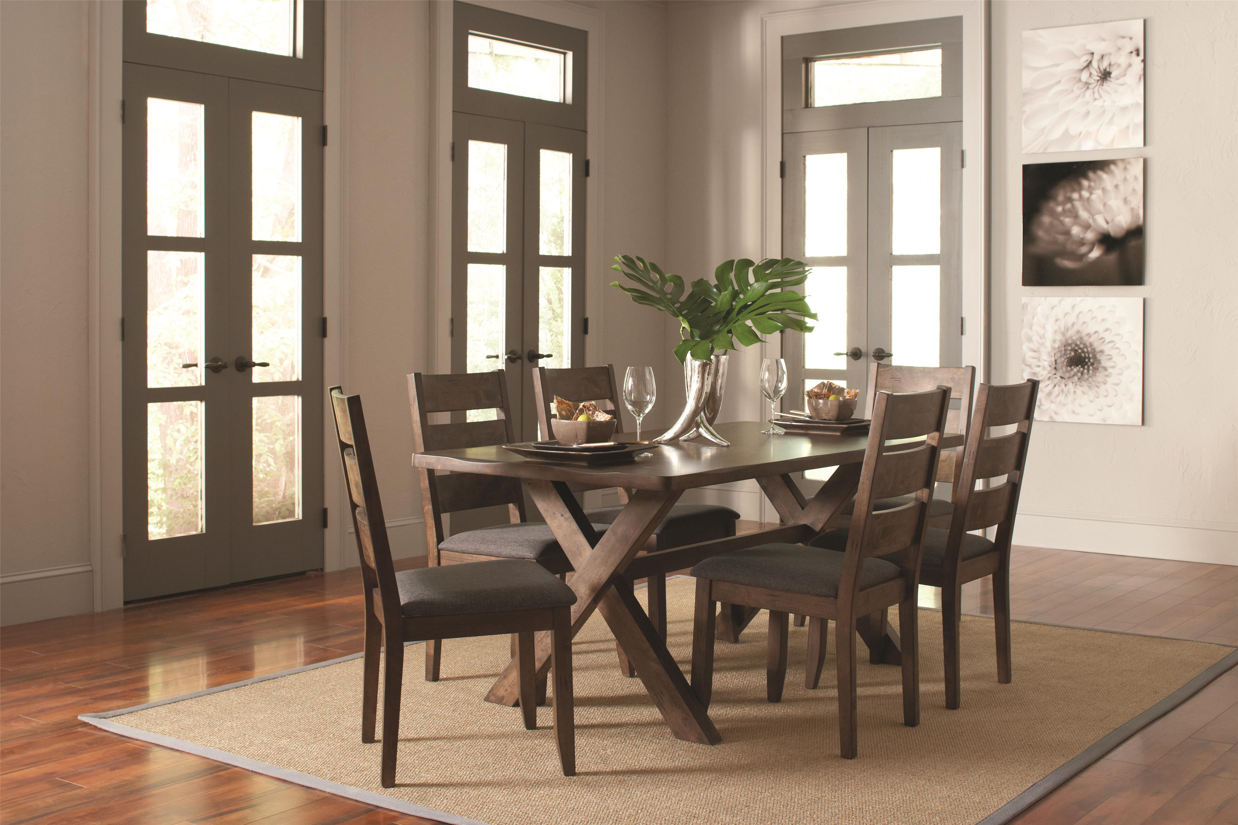 Dining Table Set & Alston Rustic Trestle Dining Table