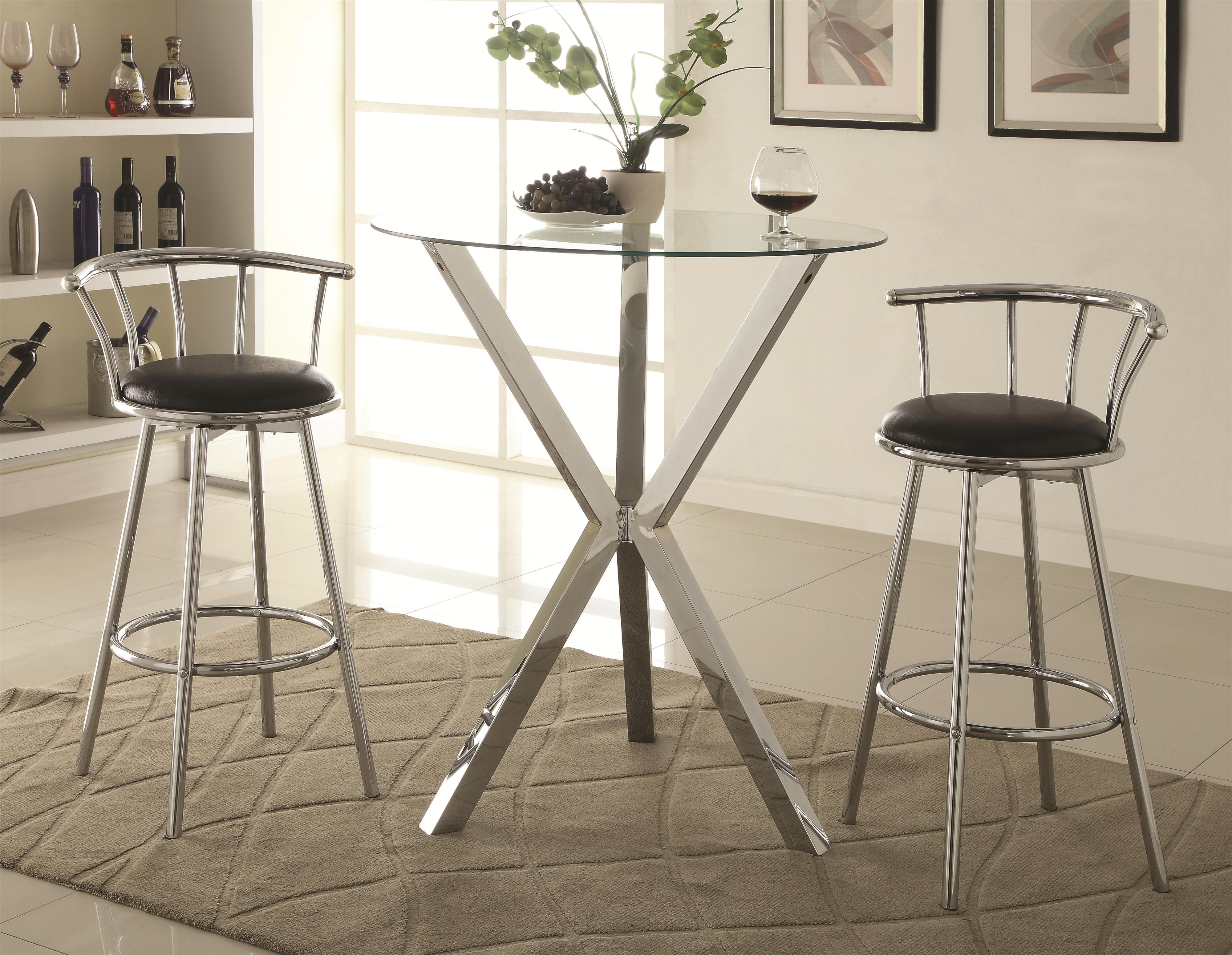 Fine Furniture San Diego :: Kitchen & Dining :: Bar Stools :: Chrome ...