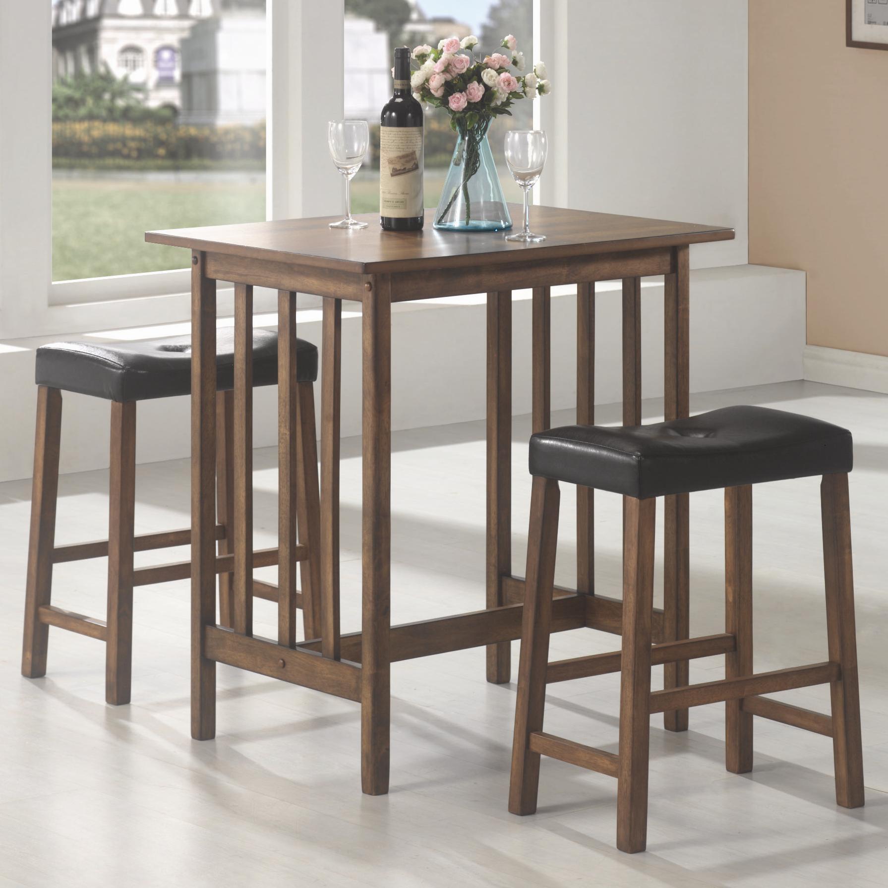 3 Piece Bar Table And Stool Set. Table Set
