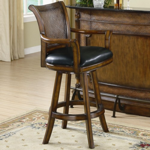 Amazing Clarendon Traditional Bar Stool With Leather Seat Squirreltailoven Fun Painted Chair Ideas Images Squirreltailovenorg
