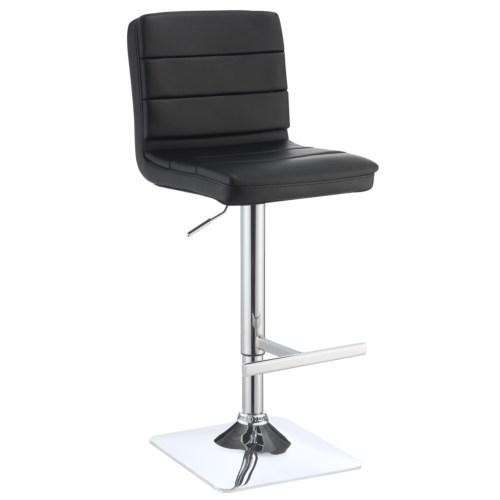 adjustable upholstered bar stool set of 2