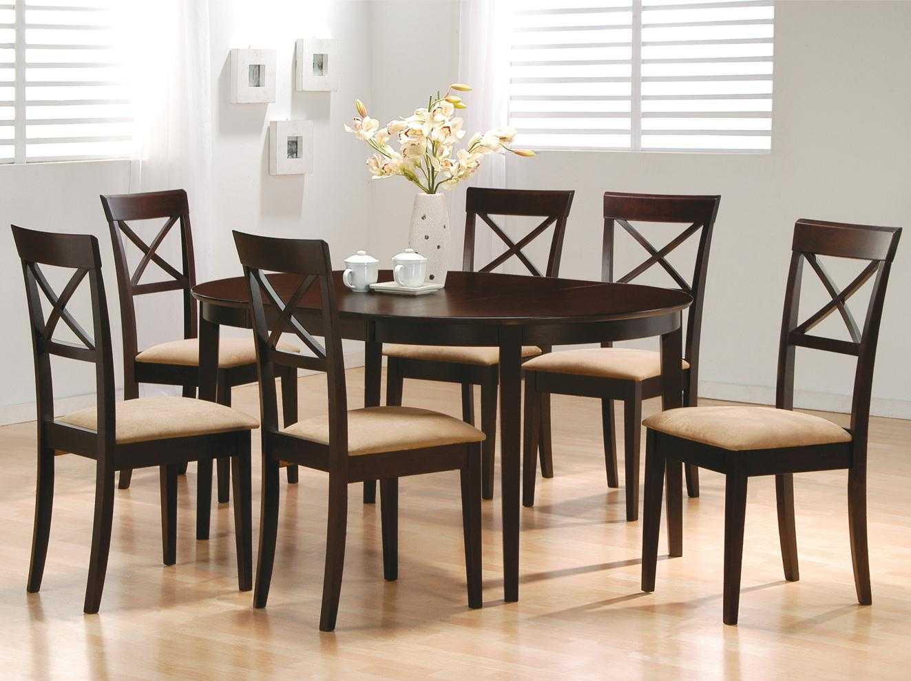 Cross Back Dining Table Set