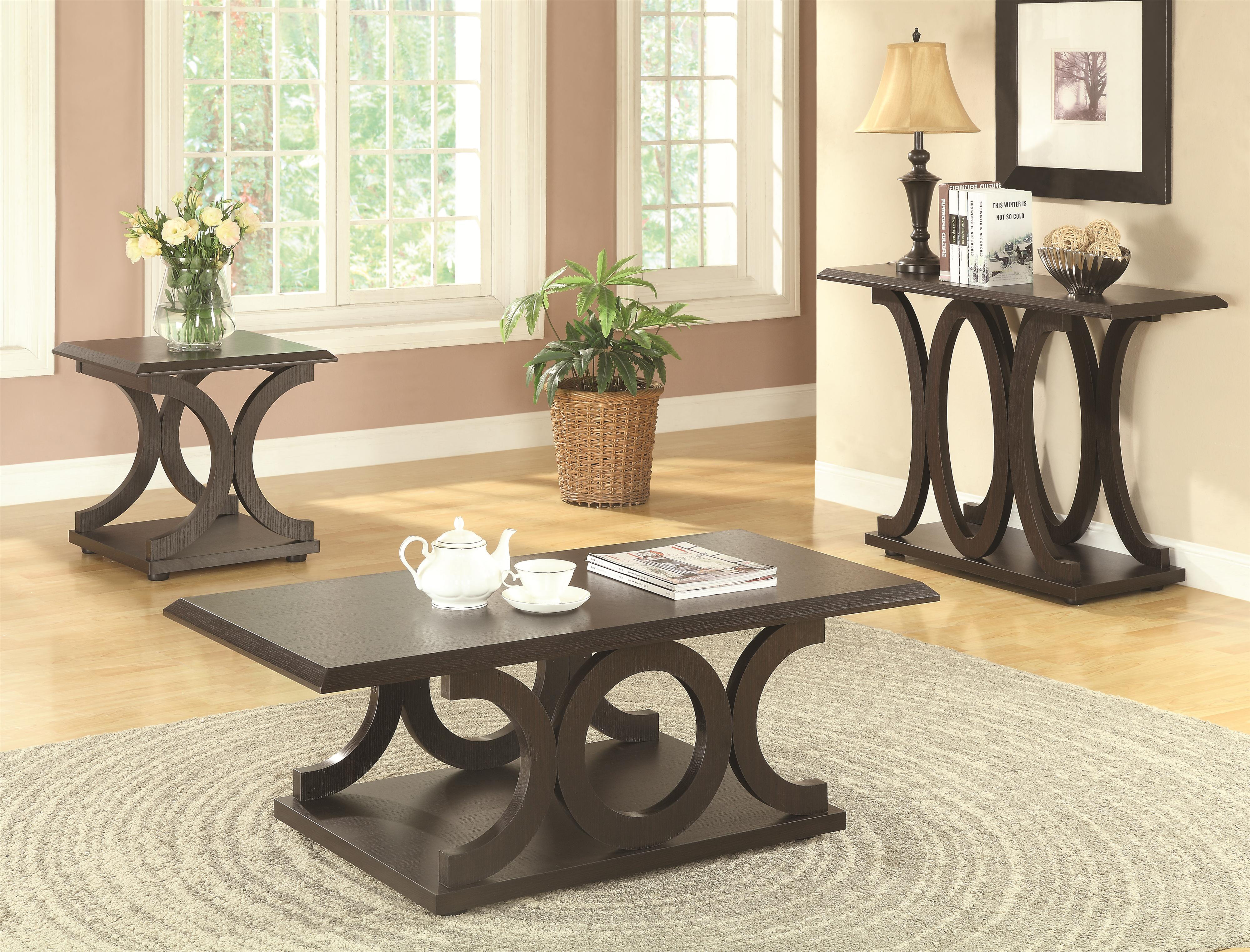 C shaped coffee table table set geotapseo Choice Image