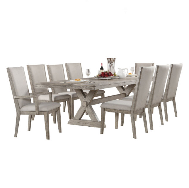 Table W/Arm Chairs & Side Chairs