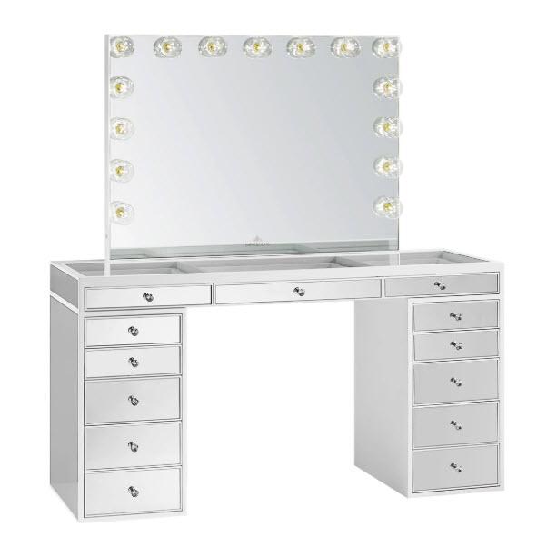 Slaystation Pro Premium Mirrored Table Glow Pro Vanity Mirror