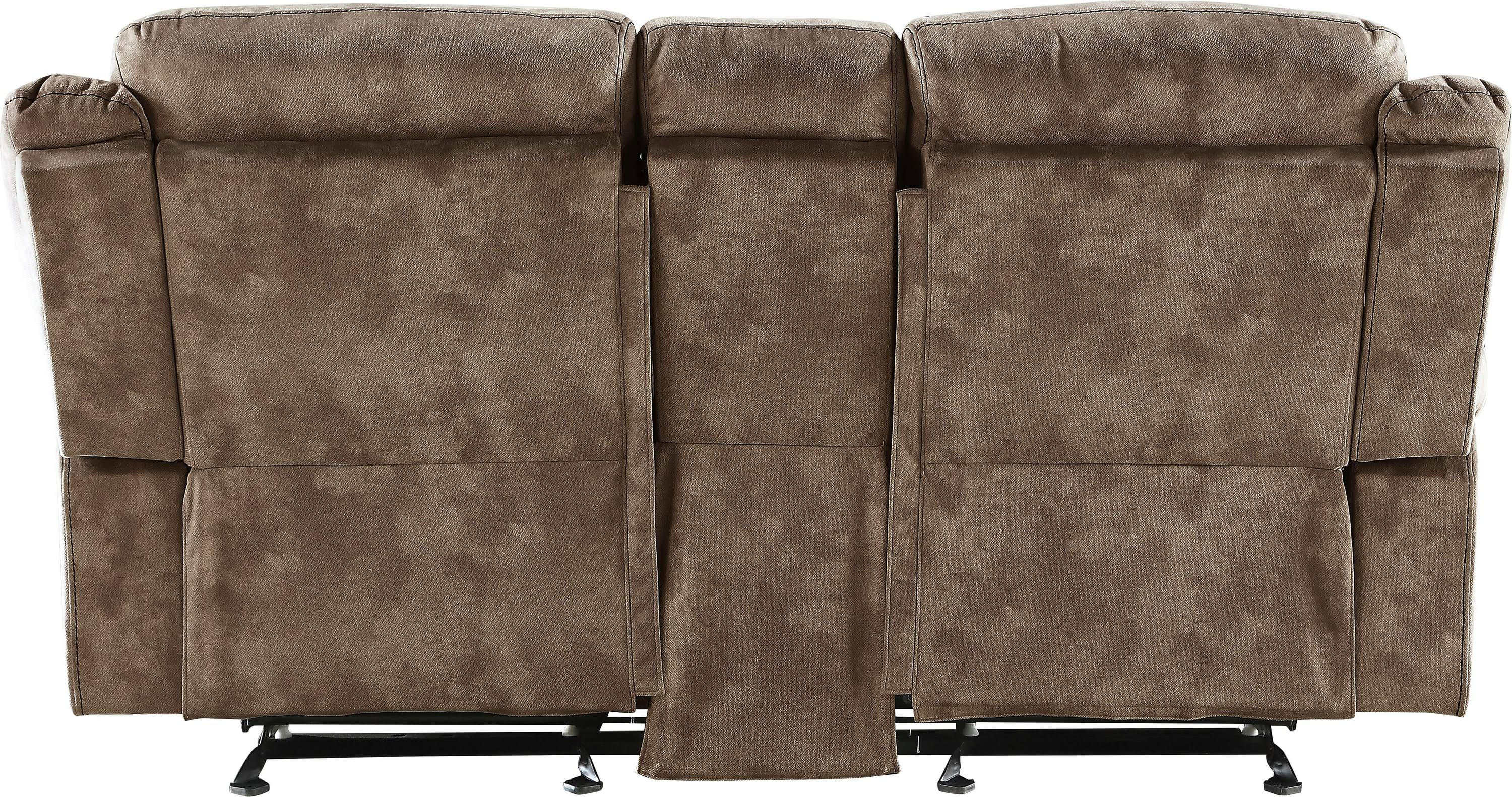 Two Tone Chocolate Reclining Loveseat Back