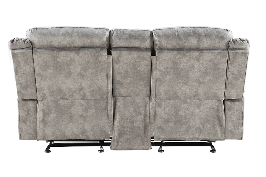 Two Tone Gray Reclining Loveseat Back