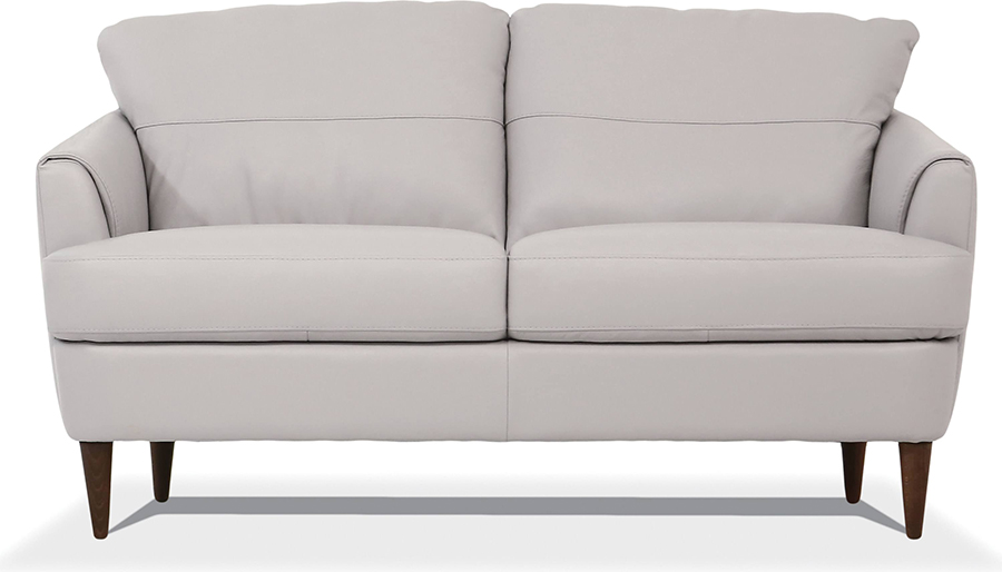 Pearl Gray Loveseat Front