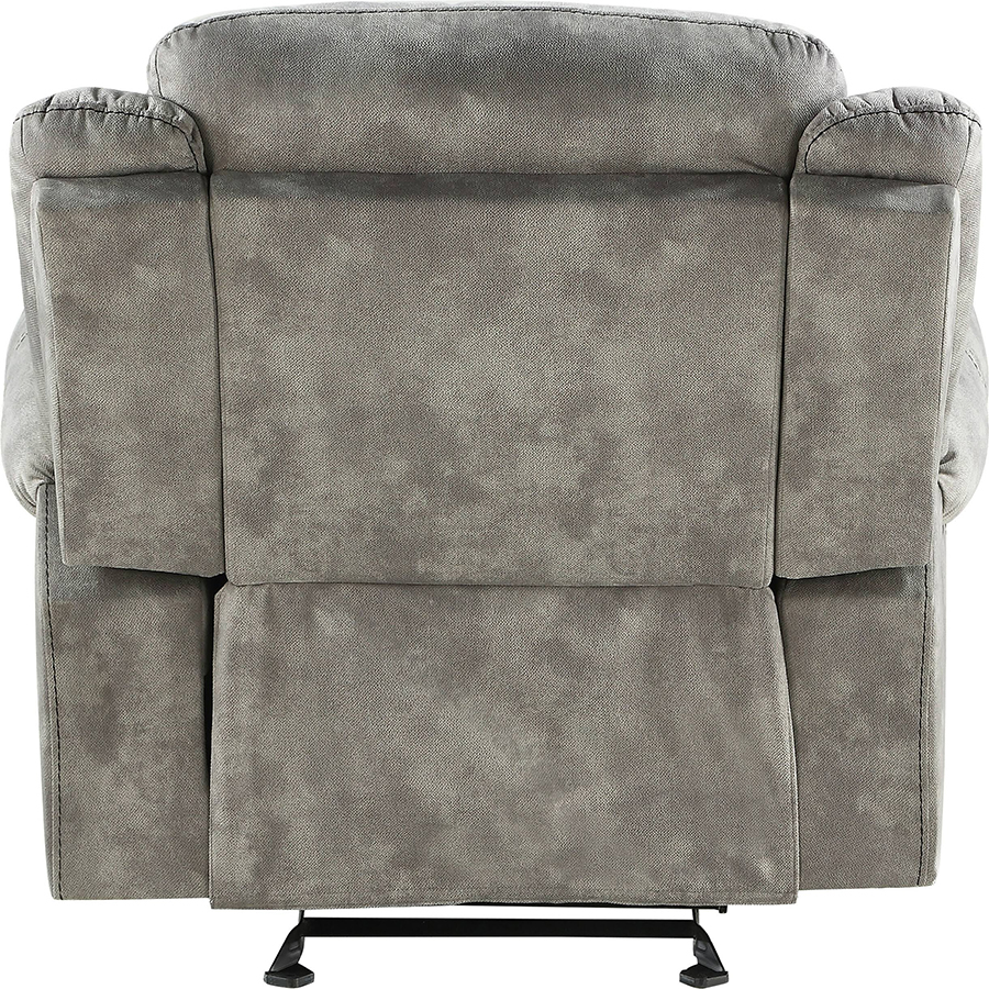 Two Tone Gray Glider Recliner Back