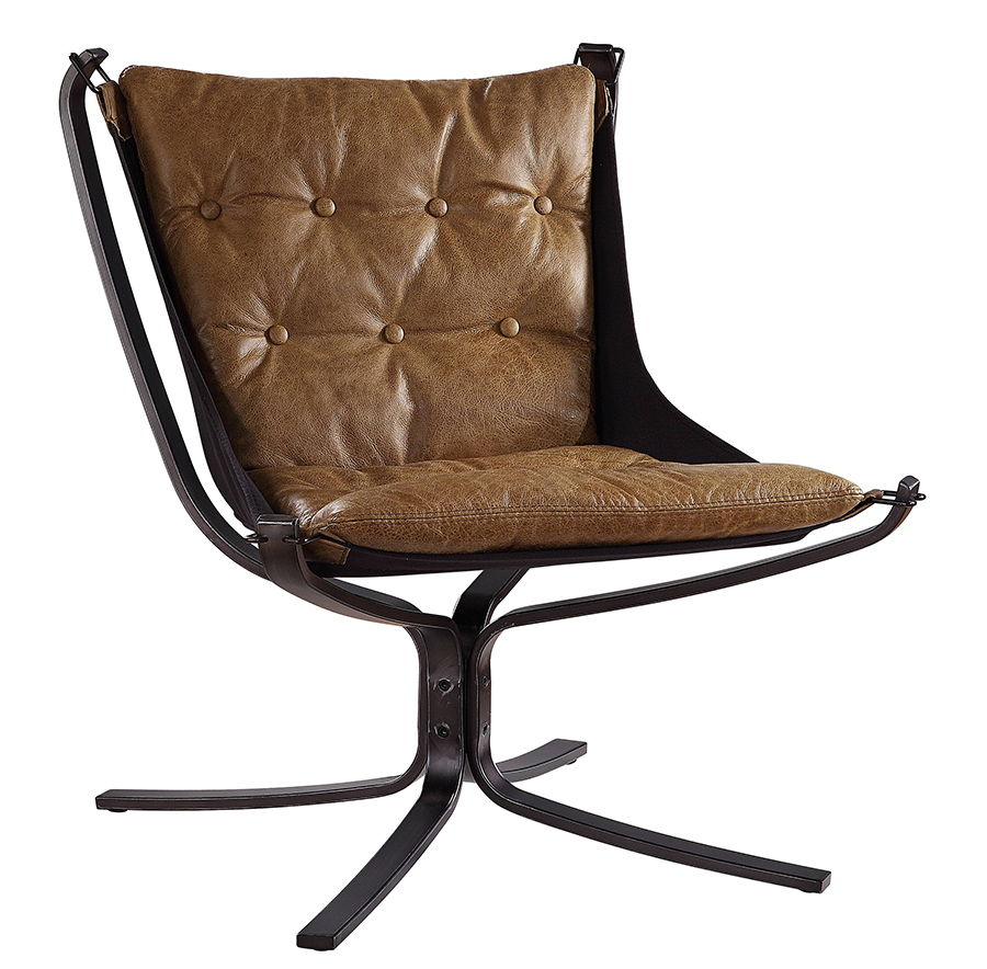 Coffee Accent Chair Angle