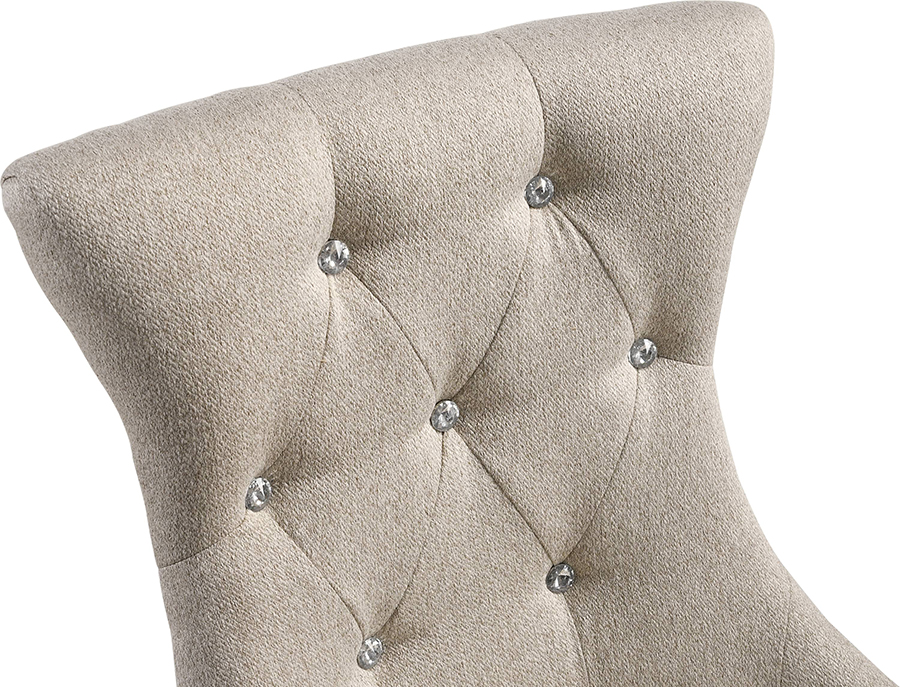 Dining Chair Button Tufted Backrest Details