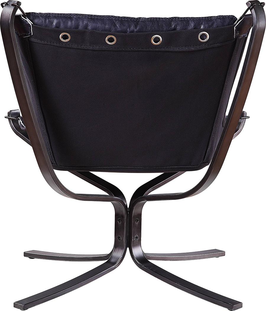 Vintage Blue Accent Chair Back