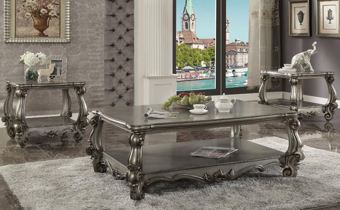 Magnificent Versailles Antique Platinum Coffee Table Ocoug Best Dining Table And Chair Ideas Images Ocougorg