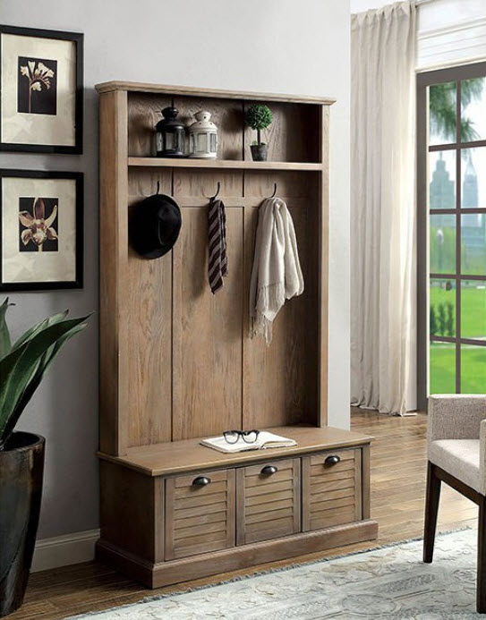 Rustic style furniture King Size Bedroom Set Wineglow Rustic Style Cabinet With Coat Hooks Becker Furniture World Fine Furniture San Diego Home Decor Accessories