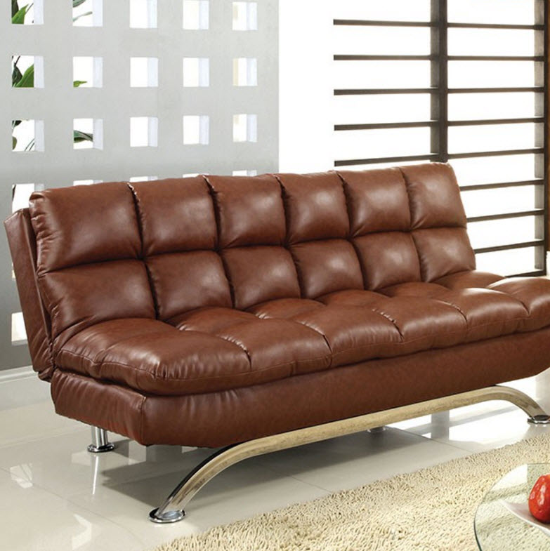 Aristo Futon Sofa Saddle Brown