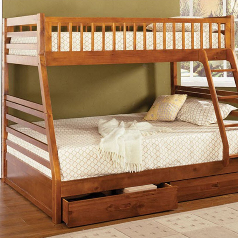 Leather Bed Oak Beds Und: California II Bunk Bed