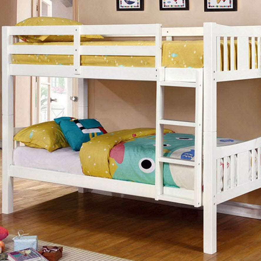 white bunk bed cameron bunk bed white 29520