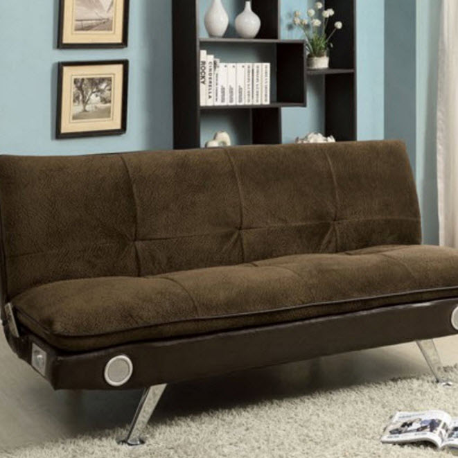 Gallagher Futon Sofa Dark Brown