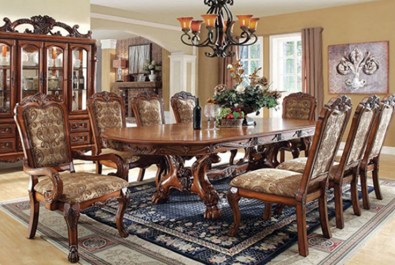 108 Medieve Formal Dining Table