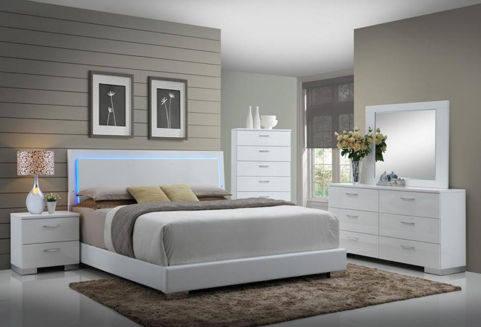 Felicity Low Profile Bed With Led Backlight