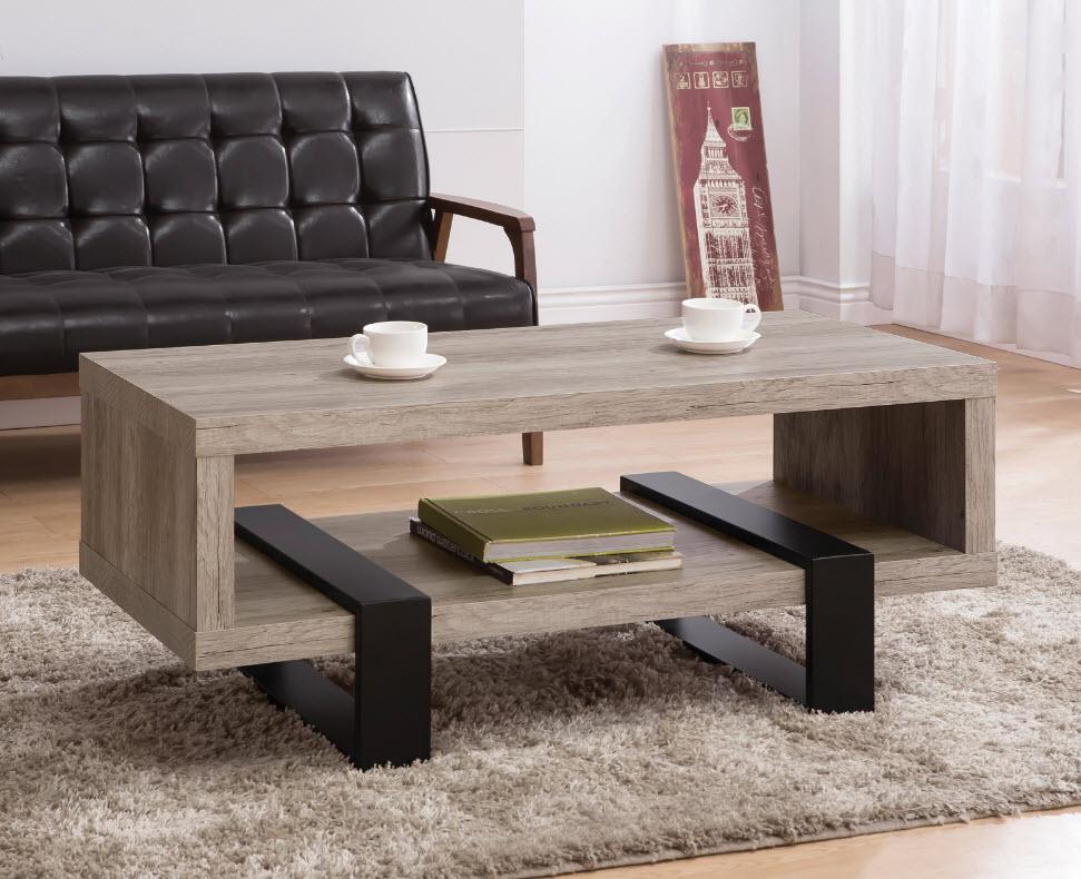 Modern Open Shelf Coffee Table