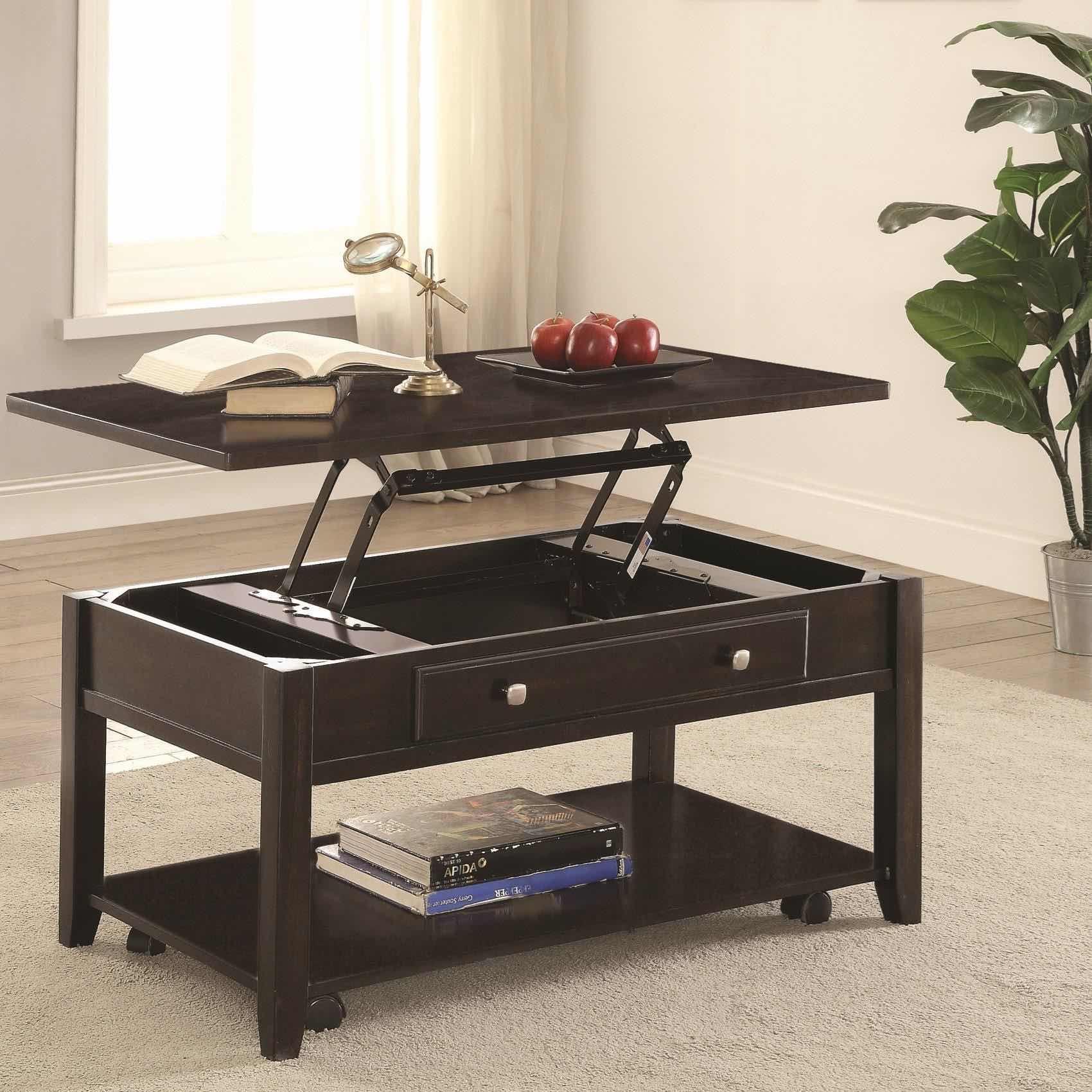 Rectangular Lift Top Storage Coffee Table