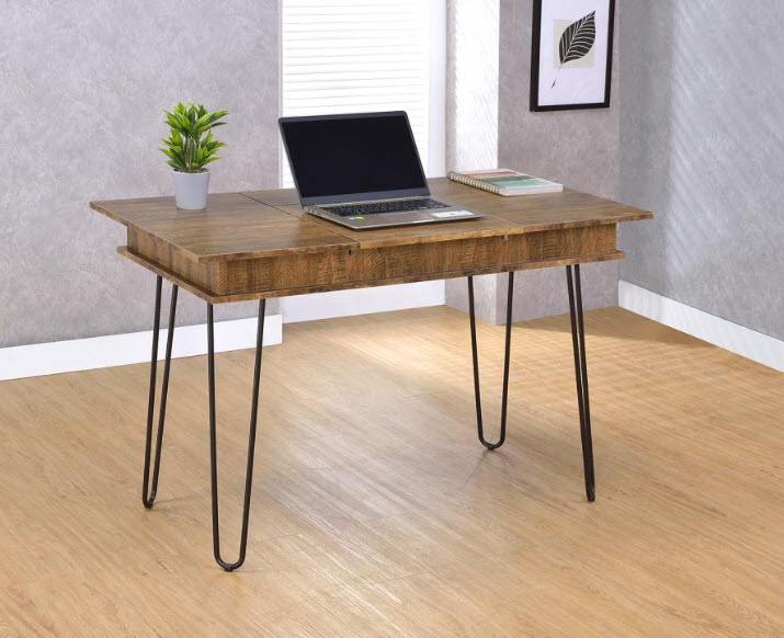 Chelsea Flip Top Storage Desk With Power Outlets