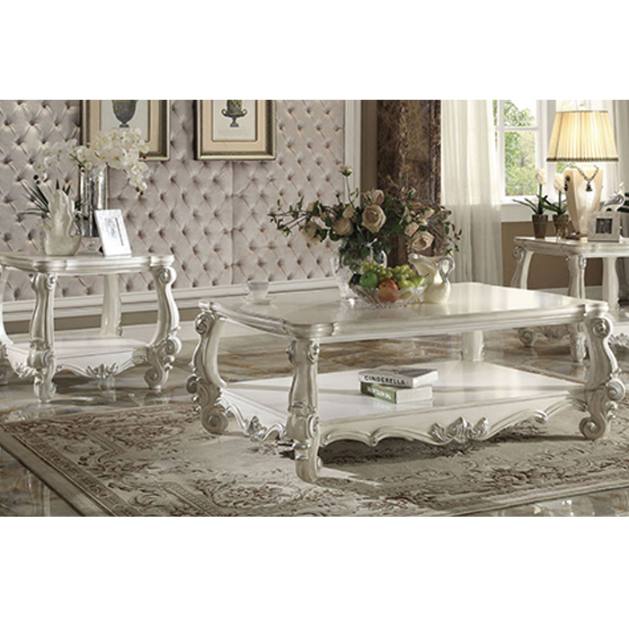 Versailles Square Coffee Table: Versailles Bone White Coffee Table