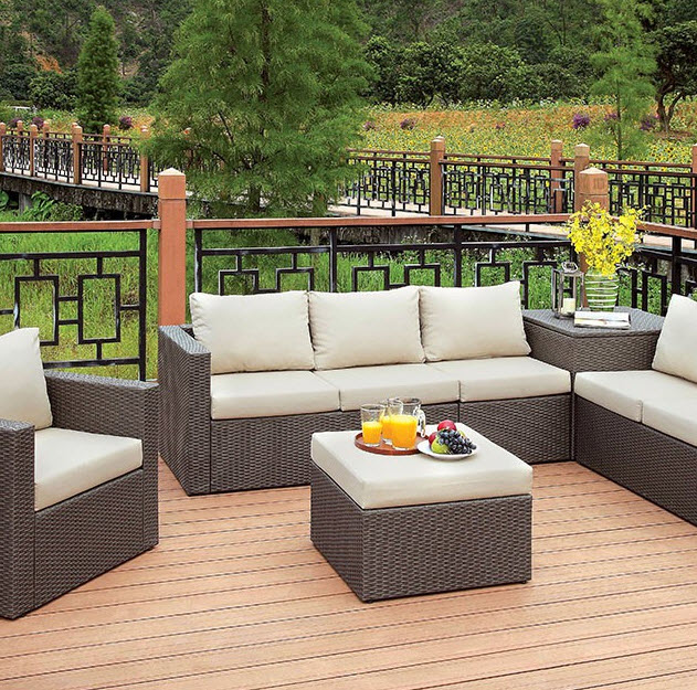 Groovy Davina Patio Sofa Set With Storage Ottoman Pdpeps Interior Chair Design Pdpepsorg