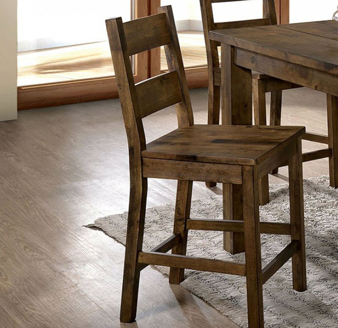 Pleasant Kristen Rustic Oak Counter Height Dining Chair Set Of 2 Pdpeps Interior Chair Design Pdpepsorg