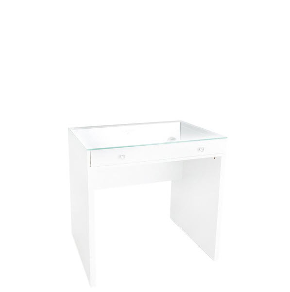 Slaystation® Clear Top Mini Vanity Table