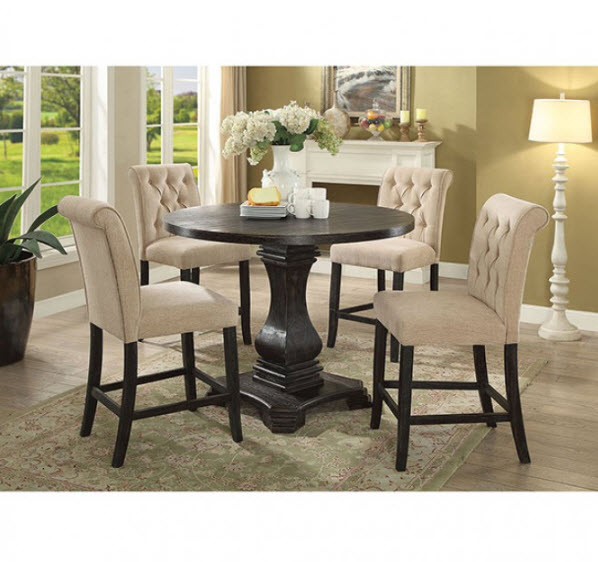 Wondrous Nerissa Rustic Round Counter Height Dining Table Gmtry Best Dining Table And Chair Ideas Images Gmtryco