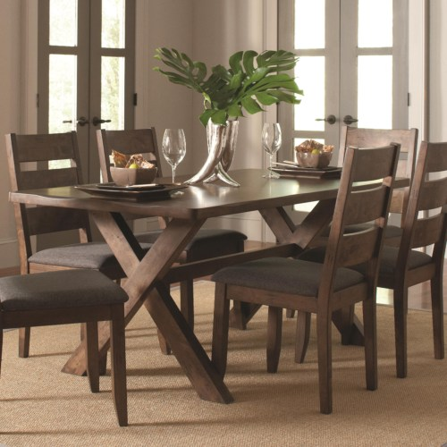 Dining Room Tables San Diego: Alston Rustic Trestle Dining Table