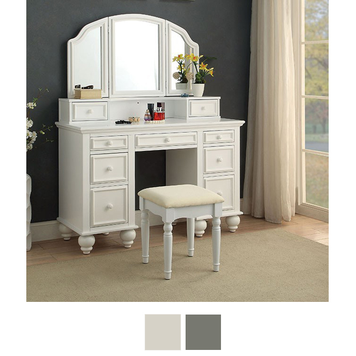 Athy Makeup Vanity With Stool
